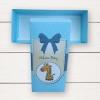 กล่องกระดาษแบบฝาปิดสีฟ้าลายการ์ตูนยีราฟ Welcome Baby 17.5x8x4.5 cm 20 ชิ้น
