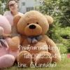 ตุ๊กตาหมีน้ำตาลอ่อนลืมตา1.6เมตร