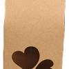 ถุงกระดาษคราฟโชว์หน้ารูปหัวใจคู่ ขนาด 5*8*9.5 cm. 50 ชิ้น