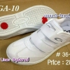 Giga GA10 - รองเท้าผ้าใบสีขาวกีก้า No.36-41 แบบเทป