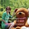 ตุ๊กตาหมีน้ำตาลเข้มหลับตา1.6เมตร
