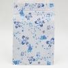 ซองซิปลายดอกไม้สีฟ้าพื้นหลังขาว ขนาด 10x15 cm. 100 ชิ้น