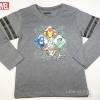 เสื้อยืดเด็กแขนยาว Marvel สีเทา ขนาด 4-6 และ 6-8