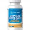 Puritan Acidophilus & Digestive Enzymes 2 billion 60 Tablets โปรไบโอติกรวม 5 ชนิดคุณภาพสูง ส่งเสริมการทำงานของลำไส้ ลดท้องผูก ต้านมะเร็งลำไส้