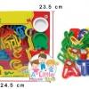 แป้งโดว์กระปุก 8 กระปุก คละสี พร้อมแม่พิมพ์ a-z ใน SET
