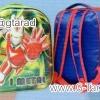 """กระเป๋านักเรียน HighSchool 13x11.5x4"""" เป้ผ้าร่มลายลูกบอล การ์ตูน 7 มิติ 2 ชั้น"""