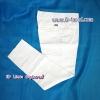 กางเกงแสลคสีขาว ผ้าเสริท