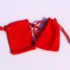 ถุงกำมะหยี่ สีแดง ขนาด 8x10 cm. 50 ชิ้น