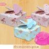 กล่องสบู่กระดาษ ลายดอกไม้ 60 ชิ้น 6.5*6.5*3 cm