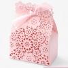 กล่องลายลูกไม้สีชมพู สำหรับใส่สบู่ 20 ชิ้น