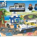 บล๊อก ชุดตัวต่อรถไฟ ตำรวจ แบบกล่อง 48 ชิ้น