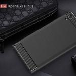 ้เคสยาง Luxury Soft Case TPU Carbon Fiber for Xperia XA1 Plus