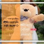 ตุ๊กตาหมีน้ำตาลอ่อนลืม1.2 เมตร