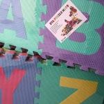 EVA แผ่นโฟมปูพื้น แผ่นรองคลาน A-Z (คละสี) (26 แผ่น) แบบมี รูปภาพประกอบ