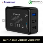 ที่ชาร์จ Tronsmart W3PTA 3 Ports USB Charger Qualcomm Certified Quick Charge 3.0
