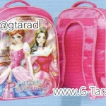 """กระเป๋านักเรียน HighSchool 15x11x5"""" เป้ผ้าร่มลายลูกบอล การ์ตูน 7 มิติ 2 ชั้น"""