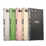 เคส Xperia XA1 Plus แบบ Aluminum Bezel PC Back Cover Case ลายเคฟล่า