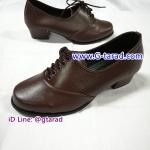Pretty Popteen 2405 - รองเท้าหนังน้ำตาล หญิง ส้นสูง