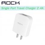 หัวชาร์จ ROCK Single Port Travel Charger (2.4A) – สีขาว