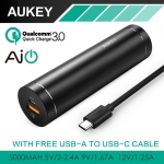 Aukey Portable Power Bank PowerAll Quick Charge 3.0 5000 mAh + แถมสาย Aukey USB Type-C