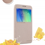 เคส Samsung Galaxy E7 ของ Nillkin Sparkle Leather Case - สีทอง