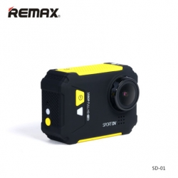 Remax SD-01 Wi-Fi Aciton Camera - Yellow เหลือง