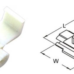 ตลับหนีบสาย 18-14 A.W.G. 0.75-2.5mm2 878101 SS 2.5 T-Lug Quick Splice Connectors KST WHITE