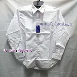 เสื้อเชิ๊ตแขนยาวสีขาว ทรงเข้ารูป