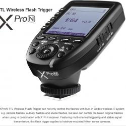 Godox Xpro-N TTL 2.4Ghz Wireless Flash Trigger for NIKON Flash speedlite ตัวส่งแฟลชไร้สายแบบออโต้ สำเนา