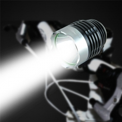 ไฟจักรยาน ไฟท้าย ไฟหน้าจักรยาน LED OOP CREE XM-L Q5 สว่าง 3000 Lumens 3 mode - White สีขาว