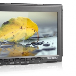 "จอมอนิเตอร์ Feelworld 7"" IPS Ultra-thin Design 1280x800 HDMI HD On-Camera Field Monitor with Peaking Focus FW759"