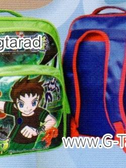 """กระเป๋านักเรียน HighSchool 16x12x5"""" เป้ผ้าร่มลายลูกบอล"""