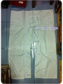 กางเกงสะดอ ขาว ไปวัด ผ้าโทเร