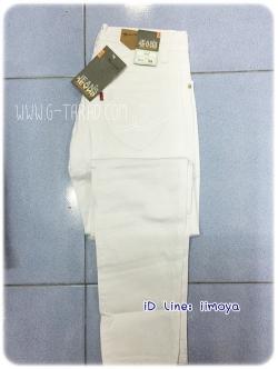 กางเกงยีนส์ สีขาว ขายาวเดฟ