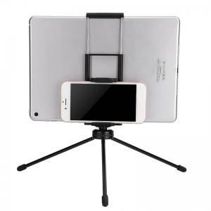 ตัวหนีบมือถือ คลิปจับมือถือ Clip Hoder 2 in 1 มือถือ แท็บเล็ต ipad tablet สีดำ Black