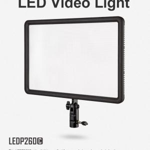 ไฟต่อเนื่อง ไฟวิดีโอ ไฟแต่งหน้า Godox LEDP260C Ultra Slim Led Video Light CRI95 3300-5600K