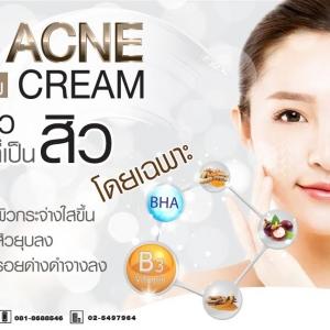 ครีมลดสิว Anti Acne Cream : สำหรับทำแบรนด์และแบ่งบรรจุ