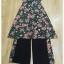ชุดเสื้อ+กางเกง ผ้าเนื้อดี นุ่มมีน้ำหนัก เสื้อพิมพ์ลายดอก ทรงยาว ผ่าหน้า-หลัง thumbnail 8
