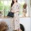 จั๊มสูท เนื้อผ้าโพลีเกาหลี พิมพ์ลายดอกไม้ thumbnail 9