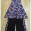 ชุดเสื้อ+กางเกง ผ้าเนื้อดี นุ่มมีน้ำหนัก เสื้อพิมพ์ลายดอก ทรงยาว ผ่าหน้า-หลัง thumbnail 9