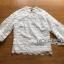 เสื้อผ้าลูกไม้สีขาว สไตล์วินเทจนิดๆ ทอลายกุหลาบ thumbnail 5