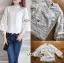 เสื้อผ้าลูกไม้สีขาว สไตล์วินเทจนิดๆ ทอลายกุหลาบ thumbnail 4