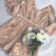 ชุดจั๊มสูทขาสั้นเนื้อผ้าทอลายดอกไม้ thumbnail 6