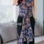 ชุดเสื้อ+กางเกง ผ้าเนื้อดี นุ่มมีน้ำหนัก เสื้อพิมพ์ลายดอก ทรงยาว ผ่าหน้า-หลัง thumbnail 3