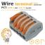 ขั้วต่อสายไฟ เทอมินอลต่อสายไฟ ขั้วต่อสายคอนโทรล ลูกเต๋าเชื่อมต่อสายไฟ 5 ช่อง OOP 0.08 -2.5 sq.mm PCT-215 5 ชิ้น Wire Terminal Block Connector