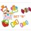 Huile Toys ของเล่นเด็กอ่อน เขย่ามือสำหรับเด็ก ชุดรวม ยางกัด HuilE SET B thumbnail 1