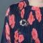 ชุดเดรสผ้าชีฟองอัดพลีท พิมพ์ลายดอกไม้สีสดใส thumbnail 6