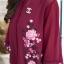 ชุดเซ็ท ด้านในเป็นซับในเสื้อกล้ามเนื้อดี มาพร้อมเดรสเชิ๊ตตัวยาว คอจีน พิมพ์ลายสวยหรู thumbnail 12