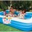 INTEX ™สระว่ายน้ำเป่าลมขนาดครอบครัว (305 x 183 ซม.) ขนาด 3 เมตร thumbnail 1