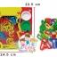 แป้งโดว์กระปุก 8 กระปุก คละสี พร้อมแม่พิมพ์ a-z ใน SET thumbnail 1
